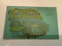 Vintage Green Room of the Methodist Dining Rooms Washington DC Postcard