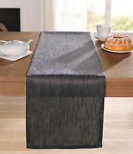 Tischläufer 40 x 140 cm Tischdecke Tischtuch Tischdeko elegant braun grau