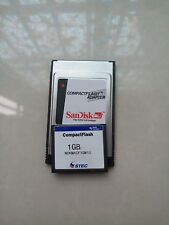 STEC  1GB  Compact Flash +ATA PC card PCMCIA Adapter JANOME Machines