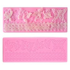 Silicone Embossed Mold Butterfly Lace Fondant Cake Decorating Mould DIY YZ