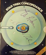 **SIGNED BY WILLIAM SHATNER** STAR TREK CONCORDANCE-1ST EDITION