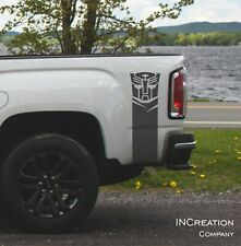 Autobot Rear Vinyl Racing Stripes Fits GMC Canyon Decals Transformers Stickers