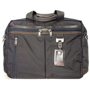 TUMI Densmore Medium Top Zip Brief Shoulder Strap Laptop Bag Black (MSRP $345)