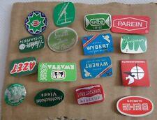 Vintage Metal Stick Pin Badges Circa 1960s Parein Wybert Behe Set of 16