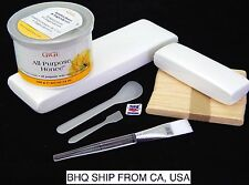 GIGI ALL PURPOSE HONEE WAX+MUSLIN EPILATING STRIP, SPATULAS,  FACIAL BRUSH