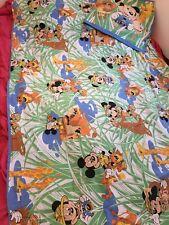 Vintage Disney CTI France drap housse de couette Mickey + taie d'oreiller Safari