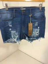 APHRODITE WOMEN'S CUTOFF & DESTROYED JEAN SHORTS LARGE NWT