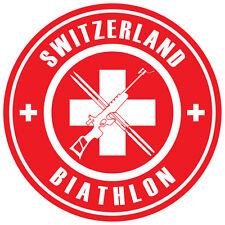 Biathlon Decal - Switzerland - 1.5 Inches