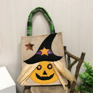 Halloween Tote Candy Handbag Gifts Storage Pumpkin Festival Pouch Party Decor HO