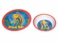 Dining Set SHARK TALE Plate & Bowl Toddler NEW