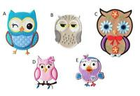 KnF Owl Embroidered Iron On Sew On Patches Badges Transfers Fancy Dress