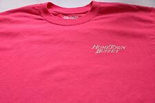 Hometown buffet  logo best of both worlds RARE Pink womans t shirt (S)