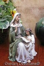 "LOVELY!  Small 2.5"" ST. ANNE & MARY Resin Catholic Statue ~ New!"
