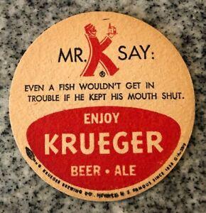 Krueger Mr K 3.5 Beer Coaster Even a Fish