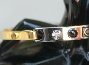 Authentic Designer Coach Bangle Bracelet with Crystals