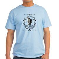 CafePress Backyard Chicken Farmer Light T Shirt 100% Cotton T-Shirt (1168350400)