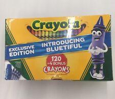 CRAYOLA EXCLUSIVE EDITION (120+4 BONUS CRAYONS) CUTE SHARPENER INSIDE! IN HAND!