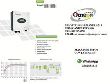 GROWATT INVERTER FOTOVOLTAICO 2KW AC MONOFASE IP65 2000-S 1MPPT LCD MC4 OMAGGIO