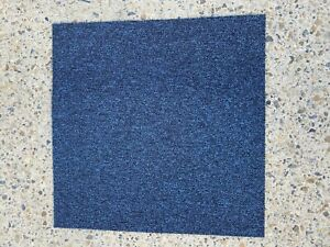 Carpet Tiles 5m2 Box Heavy Duty Commercial Retail Office Flooring BLUE NAVY DARK