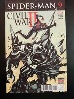 SPIDER-MAN #9 (Miles Morales) Civil War II (2016 MARVEL Comics) VF/NM Comic Book