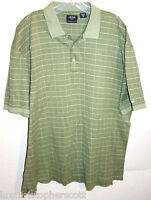 IZOD GOLF Short Sleeve polo shirt Size XL Green Mercerized Cotton