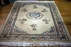 Antique Chinese Art Deco Oriental Rug 1910-20 Hand Made 100% Wool 5x8 full pile