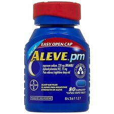 Aleve PM Pain Reliever/Nighttime Sleep-Aid Caplets 80 ea