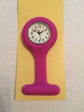 Ravel Ladies Pink Silicone Nurse Beautician Nurses Fob Watch Guarantee 1103.2
