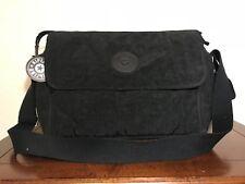 Kipling Super Nanny True Black Diaper Nylon Messenger shoulder Laptop Bag