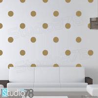 Gold Polka Dot Vinyl Wall Decal | Gold Dot Decal | Teen Gold Decor | Baby Decor