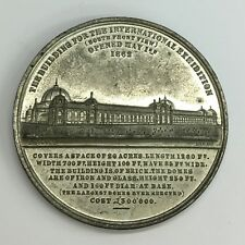 Antique 1862 International Exhibition By Dowler Medal 41.2grams