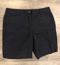 Lands End Womens Shorts Size 12 Navy Blue Fit 2 Casual Pockets