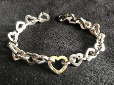 Tiffany & Co. Silver &  18k Yellow Gold Sweetheart Heart Bracelet