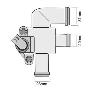 THERMOSTAT FOR SMART FORTWO 0.7 450 (2004-2007)