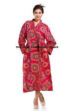 Women's Nightwear Robe Bath Spa Gown Dressing Indian 100% Cotton Peacock Mandala