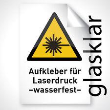 50x Outdoor Laser Kopier Folie Aufkleber FARBLOS KLAR GLÄNZEND A3 Profi Qualität