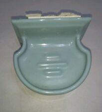 MCM Ceramic Baby Powder Blue Vintage Bathroom Soap Holder Wall Mount