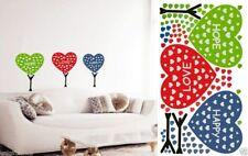 Colorful Hearts Wall Decal Room Sticker Bedroom Girl Boy Room Nursery Room Decor