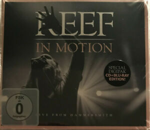 Reef - In Motion - CD & Blu Ray Digipak - New Sealed Condition