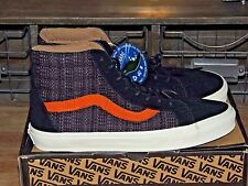 BRAND NEW VANS ITALIAN WEAVE  BLACK WITH BURNT ORANGE HI TOP SHOES HI  MENS SZ 9