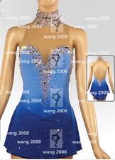 Figure Skating Dress Ice Skating Dress Competition Fashion blue dyeing handmade