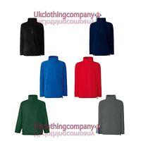 Fruit Of The Loom Half Zip Outdoor Fleece - Adult Zipped Jacket - sizes s to xxl