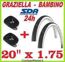 2 x Neumáticos + 2 x Cámaras de aire ideal bici bicicleta GRAZIELLA 20 x 1.75