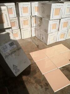Peach melba 44 tiles Johanston glazed wall tile 147x147mm (110box avilable)