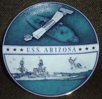 U.S.S. Arizona Memorial Collectors Porcelain Plate