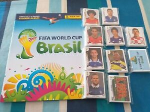 PANINI BRAZIL WORLD CUP 2014-640 LOOSE STICKERS FULL SET PLUS A EMPTY ALBUM.