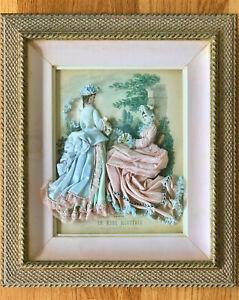 Framed antique 19th Century LA MODE ILLUSTREE fashion print original lithograph