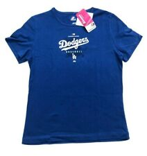 (NOTES) Women's Los Angeles Dodgers Blue T-Shirt by Majestic Medium