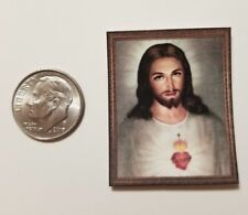 """Miniature Dollhouse 1/12 Scale poster Picture 1.5""""  Wall Art Jesus Religion"""
