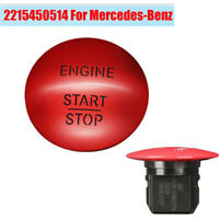 1PC Red Keyless Car Engine Start Stop Push Button 2215450514 FOR MERCEDES BENZ